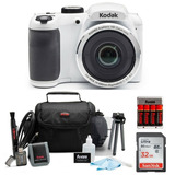 Kit Cámara Digital Kodak Pixpro Astro Zoom Az252 (blanca)