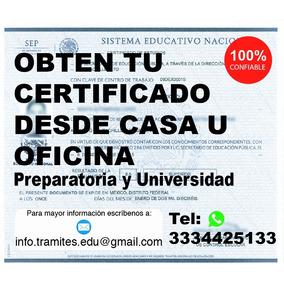 Certificado Preparatoria Bachillerato Títulos Profesionales
