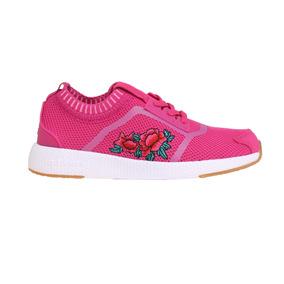 Zapatillas Addnice Moda Socks Rosas Cordon Niña Fu/fu