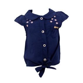 Blusa Primaveral Para Niña Color Azul 03455-v585