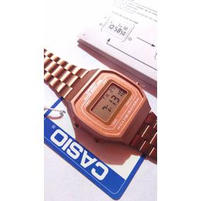 8d0bc091726a Reloj Rose Gold A168 Rosa Mate Nuevo Retro Cobre Manual Caja