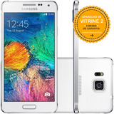 Samsung Galaxy Alpha G850m 32/2gb 12mp Branco Vitrine 2