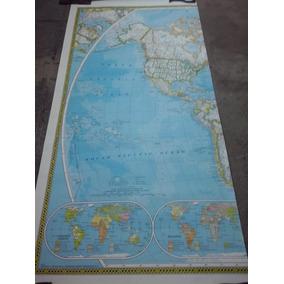 Mapa Planisferio National Geografic 2,85 Cm X 1,97 Cm Nuevo