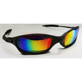 18c3efb38600e Oculos Juliet Xmetal Cinza Fosco Lente Arco Iris U.s.a