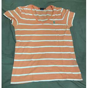 Camiseta Feminina - Gola V - Ralph Lauren Sport - Tamanho  M 7e5888f0331