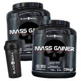 2x Hipercalórico Mass Gainer 3kg + Shaker - Black Skull