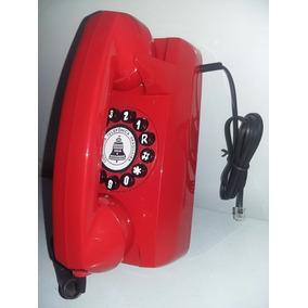 Telefone Tijolinho De Parede Digital Cor Vermelho