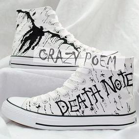 Zapatos Death Note Marca Collec Diseño Hecho A Mano