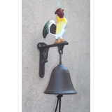 Llamador Campana De Hierro Gallito Mensula - Jardin Agus -