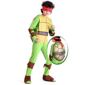 Fantasia Raphael Luxo Tartarugas Ninjas Infantil Com Casco