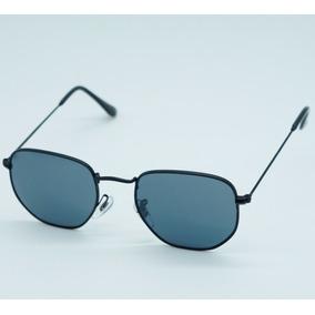 Óculos Masculino Hexagonal Várias Cores Proteção Uv400 Case f3c04c884a