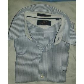 Camisa Julio Zelman Talle M A Rayas Azules Y Blancas