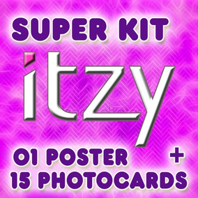 Kpop Itzy Kit 15 Fotos + 1 Poster - Cards