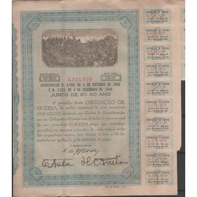Antigo Título Obrigações De Guerra Ano 1942 - 242