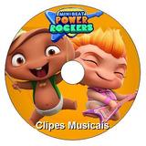 4 Dvds - Mini Beat Power Rockers Clipes E Episódios