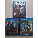Blu-ray Homem De Ferro 1, 2, 3 (novo Original)