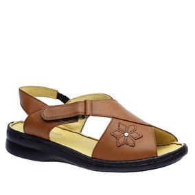 Sandália Feminina Em Couro Caramelo 293m Doctor Shoes