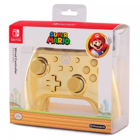 Controle C/ Fio Nintendo Switch Chrome Mario Powera 084