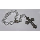 Terço Noivas Casamento Acrílico Crucifixo Prata