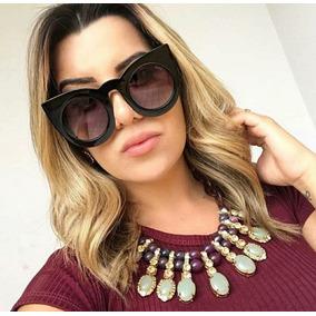 5fec9fa487637 Oculos De Sol Iridia Espelhado Gatinho - Óculos no Mercado Livre Brasil