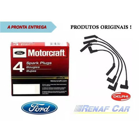 Kit Jogo Cabos + Velas Ford Ka 1.0 8v Gasolina - 2010