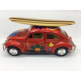 Miniatura Fusca Com Prancha 1967 Vermelho