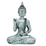 7 09 H Buda Tailandesa Meditando Paz Armonía Estatua Resina