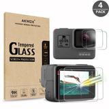 Protector Gopro Hero 5 6 7 Black 4pz Cristal Temperd Glass