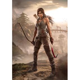 077602b8263 Papel De Parede Auto Adesivo Decoração Tomb Raider 5m²