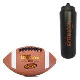 Kit Bola De Futebol Americano Wilson Gst Composite + Squeeze