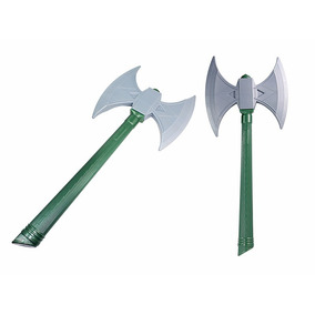 Machado Medieval Le Plastic/ Vikings Brinquedo - Barato °