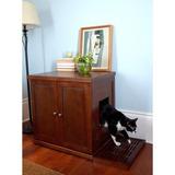 Hidden Kitty Enclosed Mesa De Madera Litter Box Para Gato