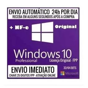 Windows 10 Pro Chave Licença Orginal Fpp Nota Fiscal C/nf-e