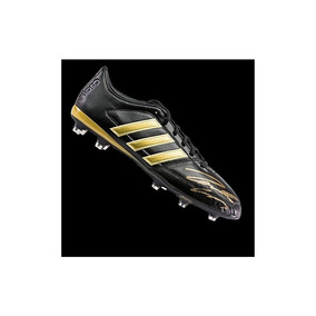 Roberto Carlos Autografió Negro Y Oro adidas Gloro Boot - Fi