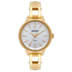 5ab020c8e21 Relogio Feminino Retangular Dourado Masculino Orient - Relógios De ...