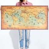 Mapa Mundi Antiguo 100 X50cms