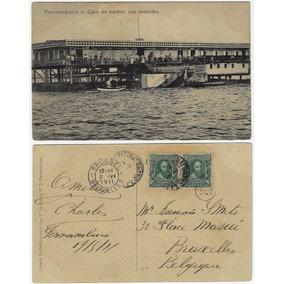 Pe 1911 Cartão Postal Foto Casa De Banhos Arrecifes Recife