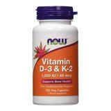 Vitamina D3 1000 Ui + K2 45mcg 120 Capsulas Now Foods Eua
