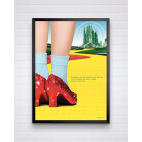 Poster Do Filme O Mágico De Oz. Com Moldura / Tamanho A3