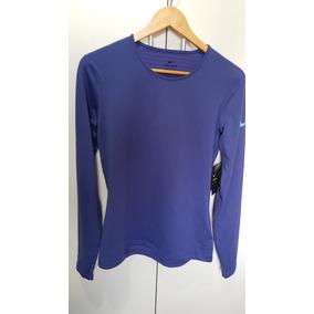 Camisa Nike Pro Warm Long Lilás Manga Longa Treino Feminina 15be791665b50