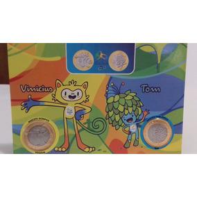 Moeda Mascote Tom E Vinicius Rio 2016 Jogos Olimpicos