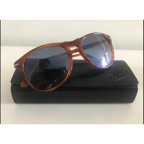 Óculos De Sol Persol Modelo 9649-s Caramelo Com Lente Azul c9536bea1a