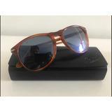 3962fb6925956 Óculos De Sol Persol Modelo 9649-s Caramelo Com Lente Azul