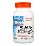 5-htp Aprimorado Com Vitaminas B6 E C - 120 Veggie Caps