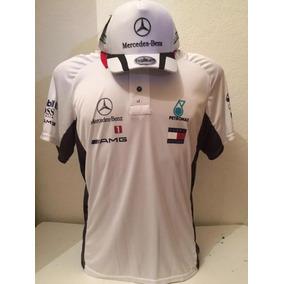 Kit Camiseta Polo + Bone Mercedes Benz Petronas F1 Branco ee489d43b38f0