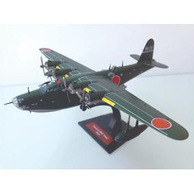 Miniatura Avião Bombardeiro Kawanishi H8k2 Emely Japan 1:144