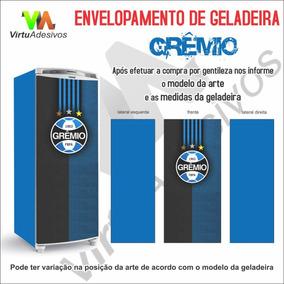 97cbf801e1 Adesivo Envelopamento Geladeira 1 Porta Time Gremio