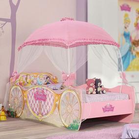 8adbad7160 Cama Infantil Com Dossel Princesas Disney Star Pura Awt