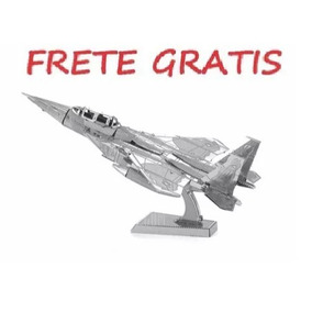 Quebra Cabeça Aguia F-15 Metal 3d - Frete Gratis