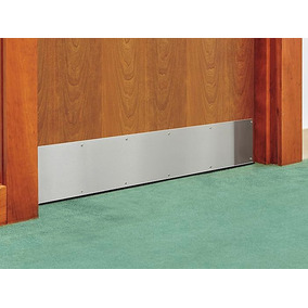 1 Placa De Acero Inoxidable De 6x34 Para Proteccion Puertas